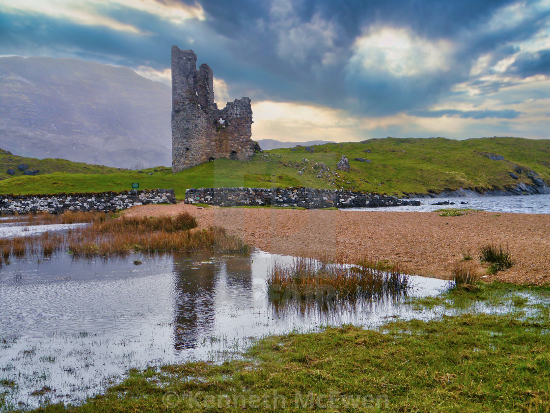 """Ardvreck Castle"" stock image"