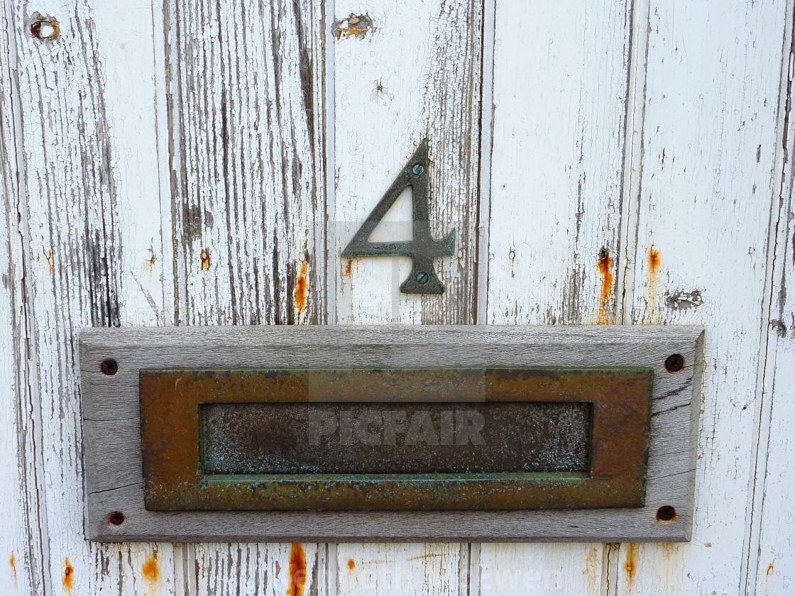 """A weathered door"" stock image"