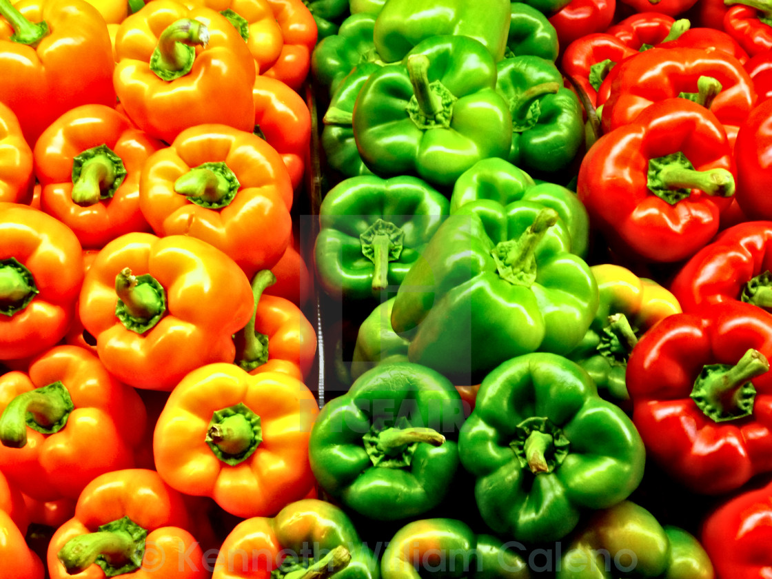 """a choice of peppers"" stock image"