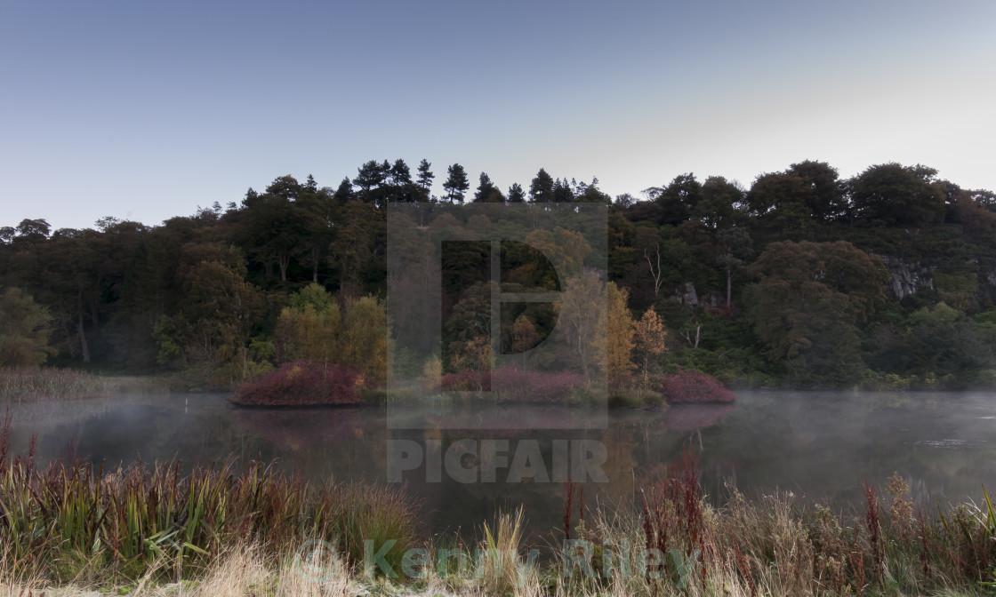 """Sunrise at Dundas Loch"" stock image"