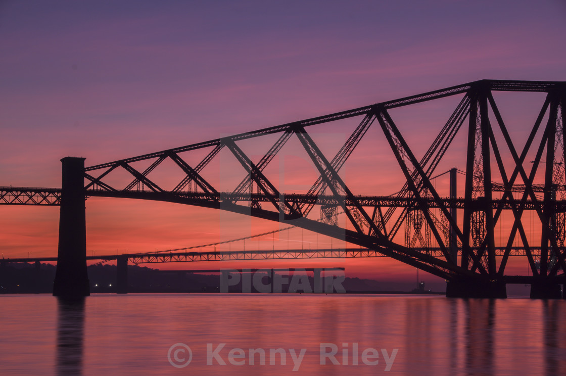 """The Three Bridges"" stock image"