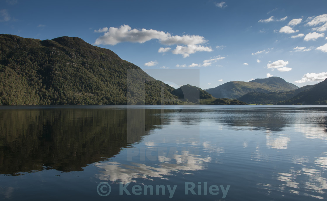 """Reflections at Ullswater"" stock image"