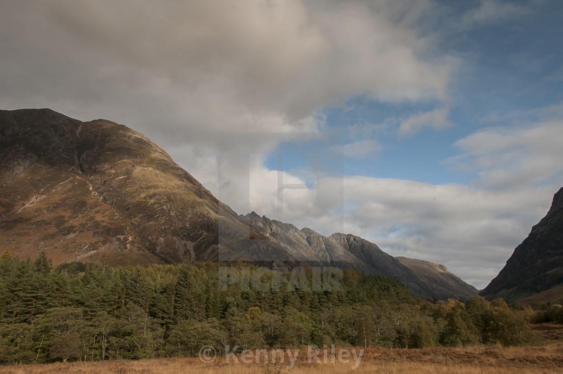"""Glencoe in the Autumn"" stock image"