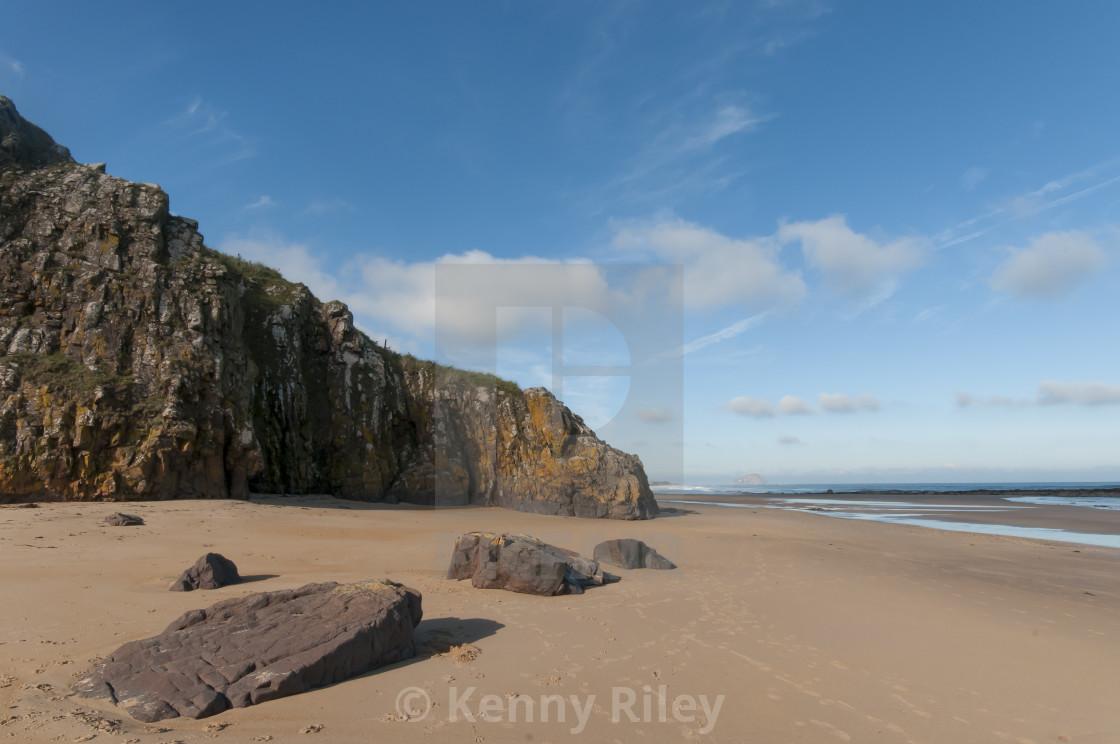 """Autumnal Beach Scene"" stock image"