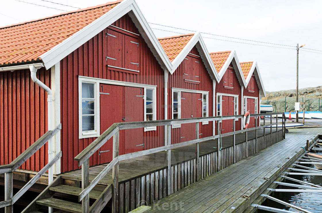 Lake sheds in Kladesholmen - License, download or print for £2 48