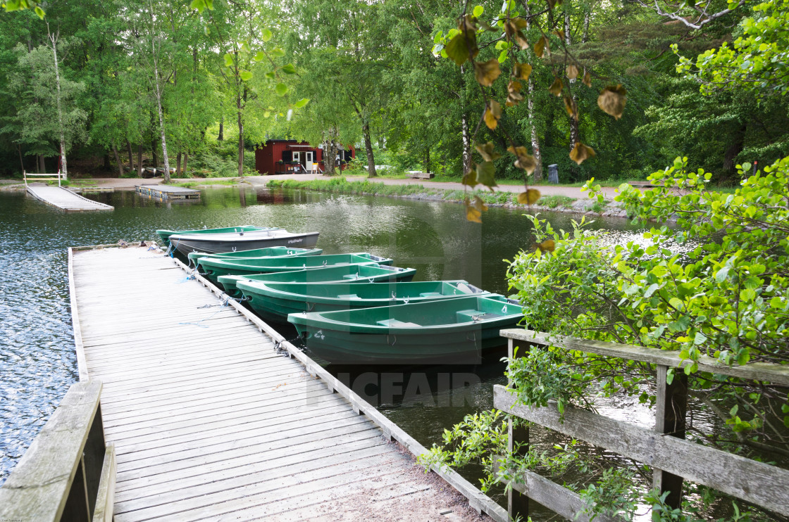 """""""small rowboat for rent"""" stock image"""