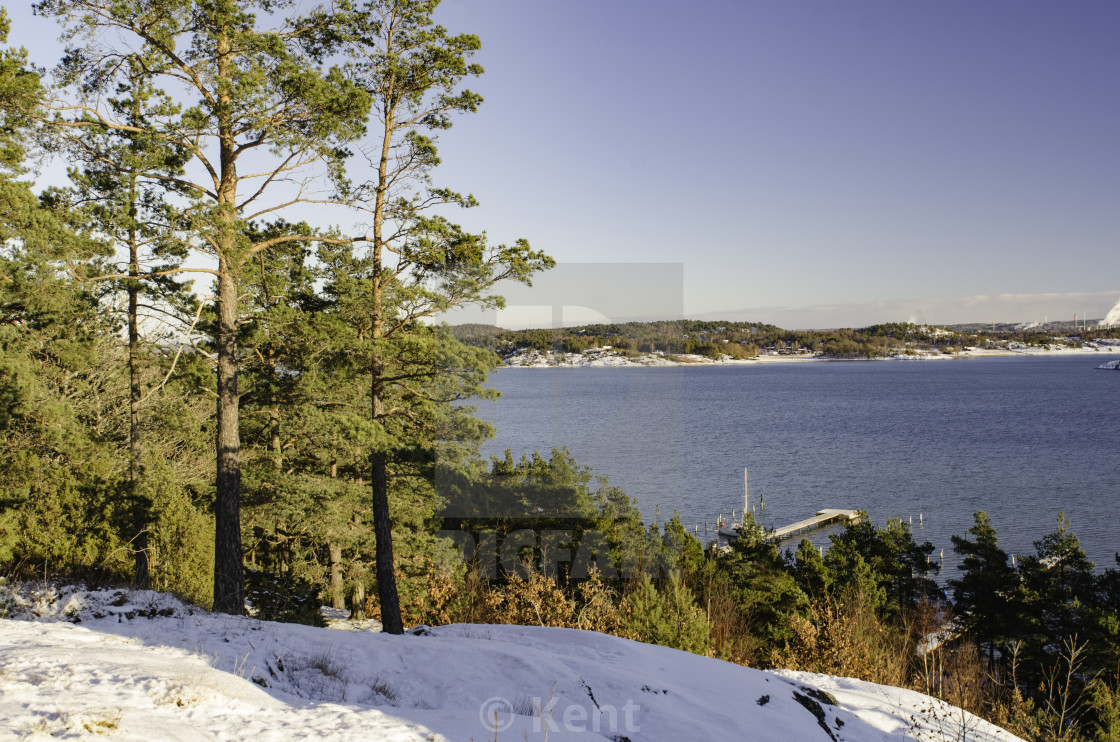 """one cold winterday on swedish westcoast"" stock image"