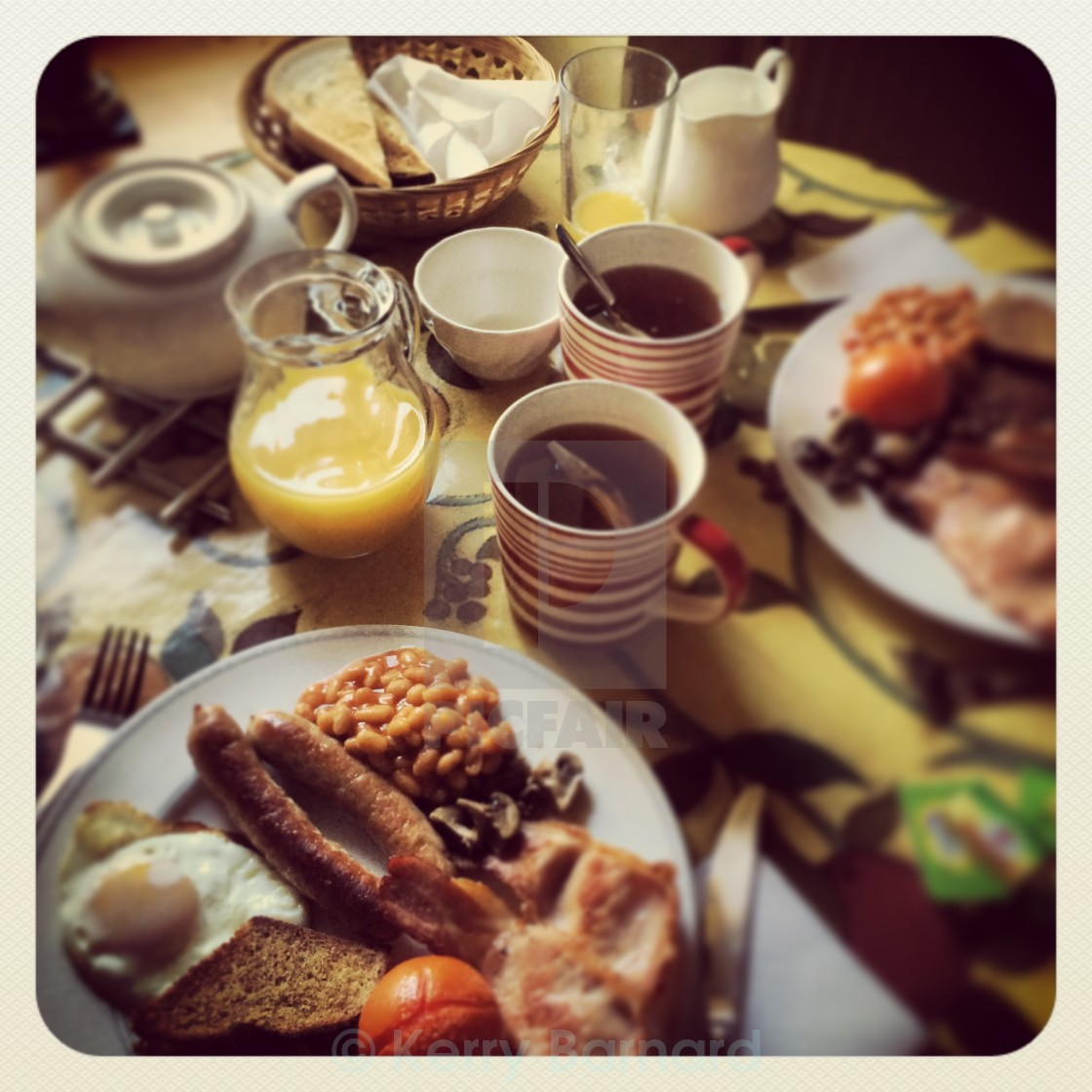 """Full English"" stock image"