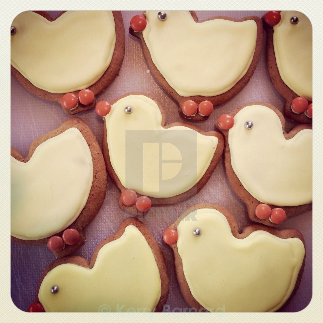 """Easter gingerbread chicks"" stock image"
