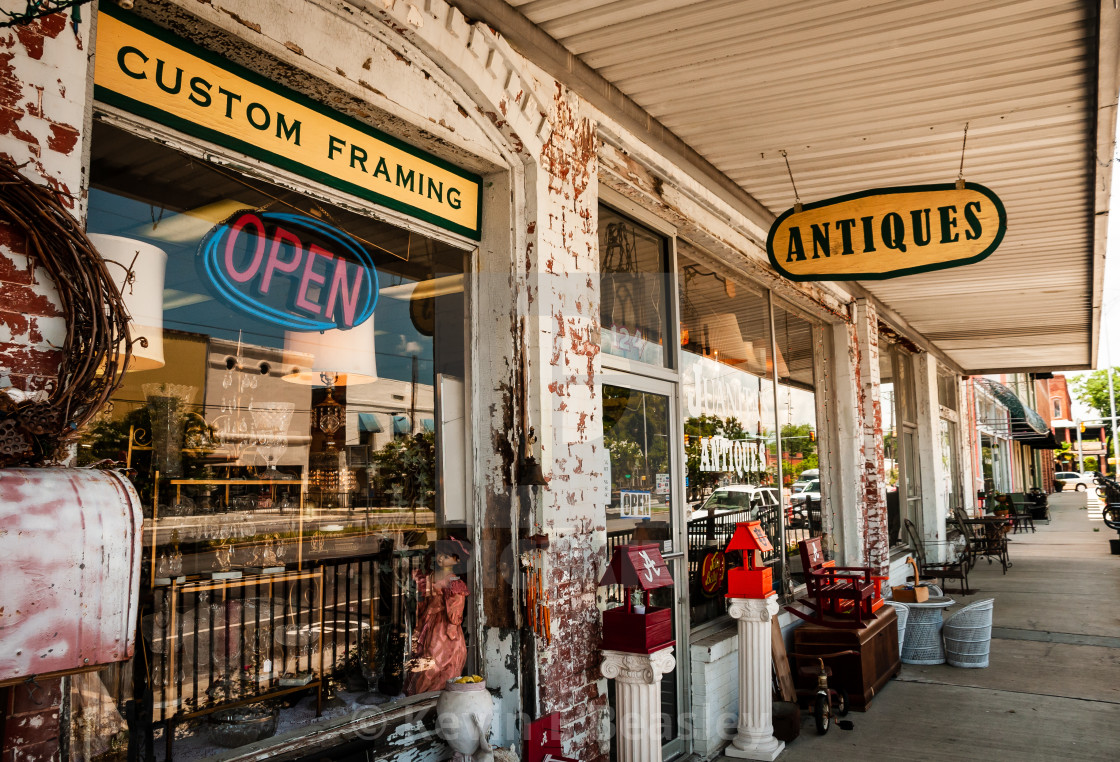 Antique Store in the Old South in the United States