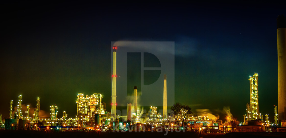 """INDUSTRY AT NIGHT"" stock image"