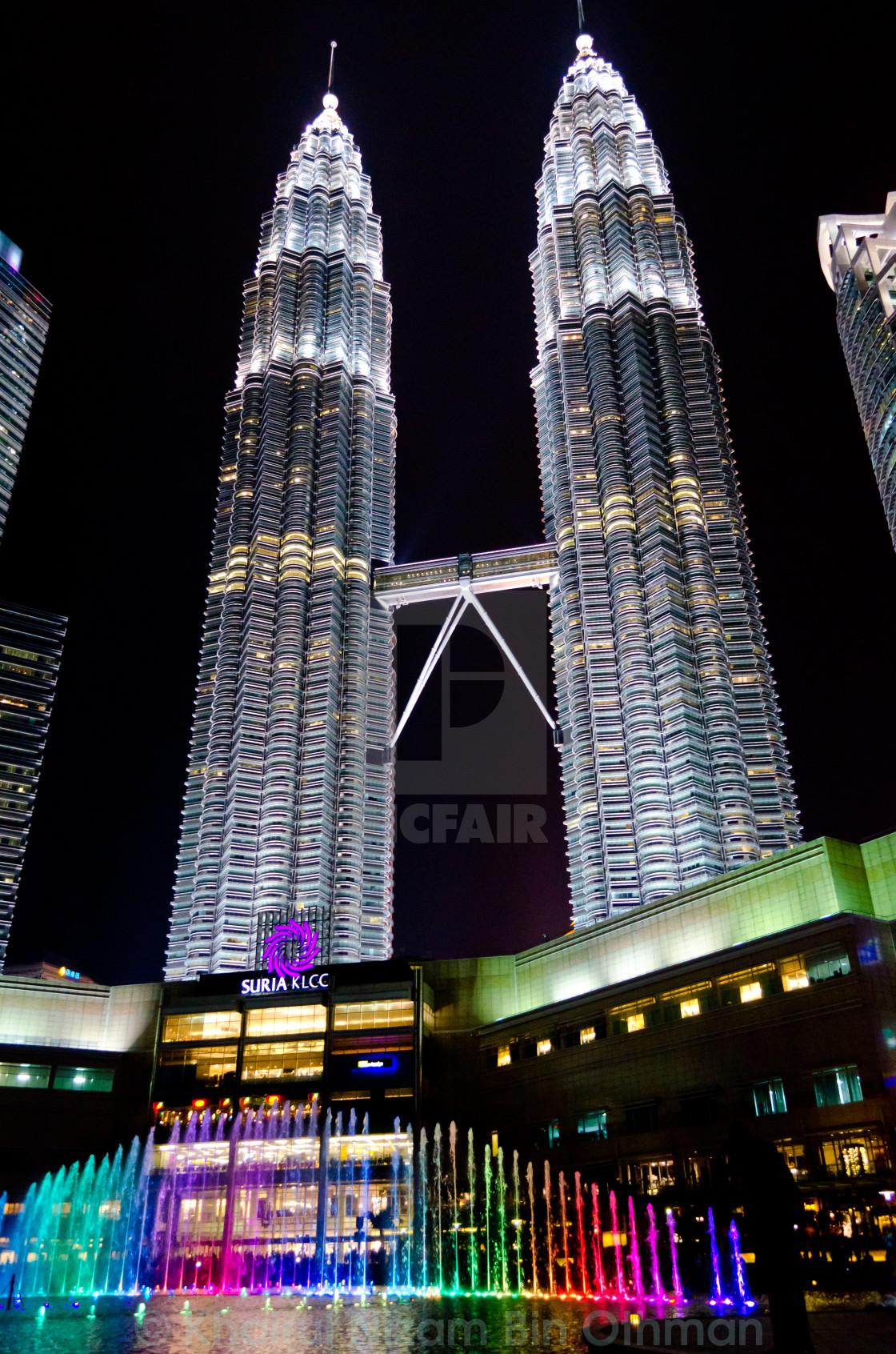 """""""Petronas Twin Tower (KLCC) at night"""" stock image"""