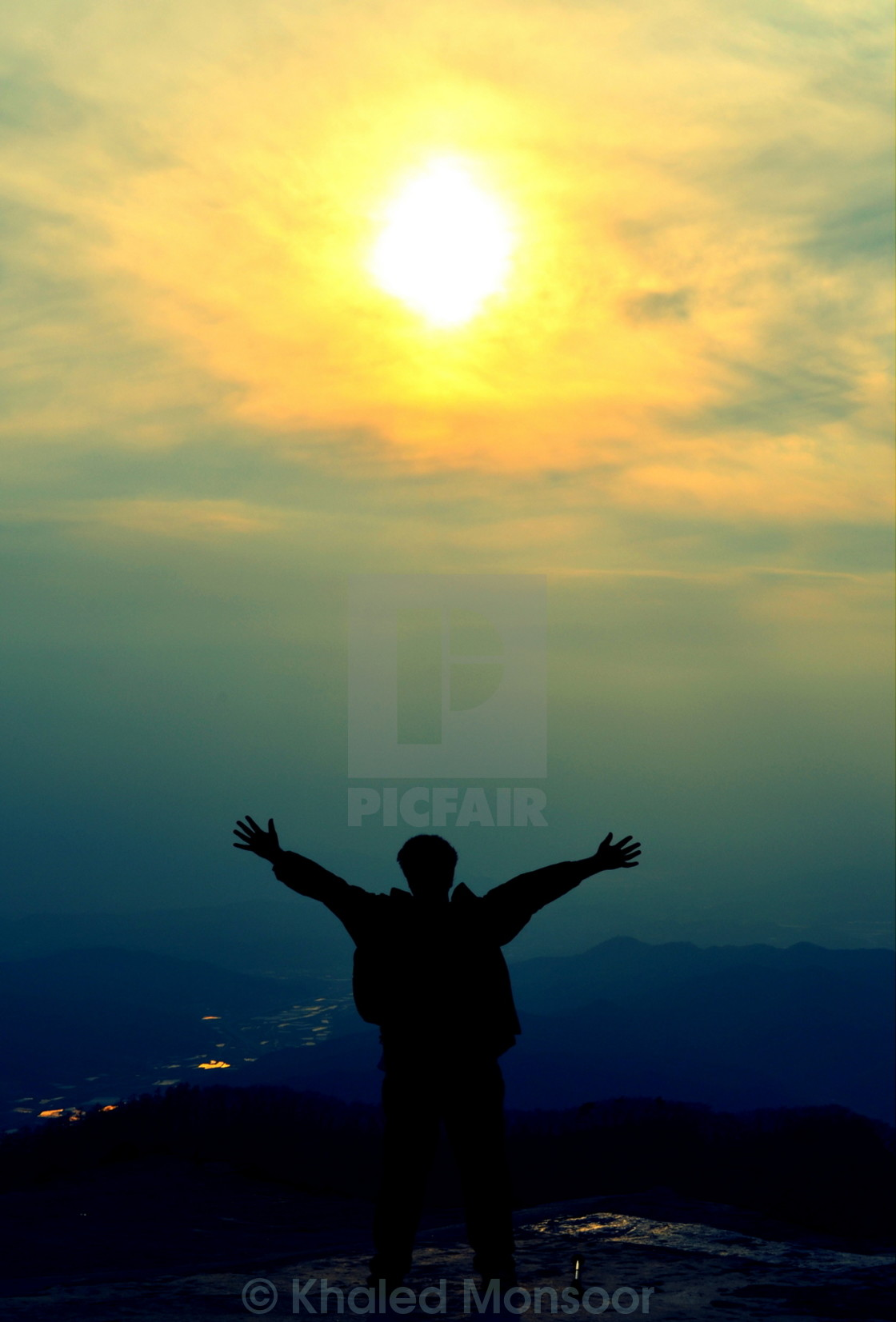"""The Joy of Summit"" stock image"