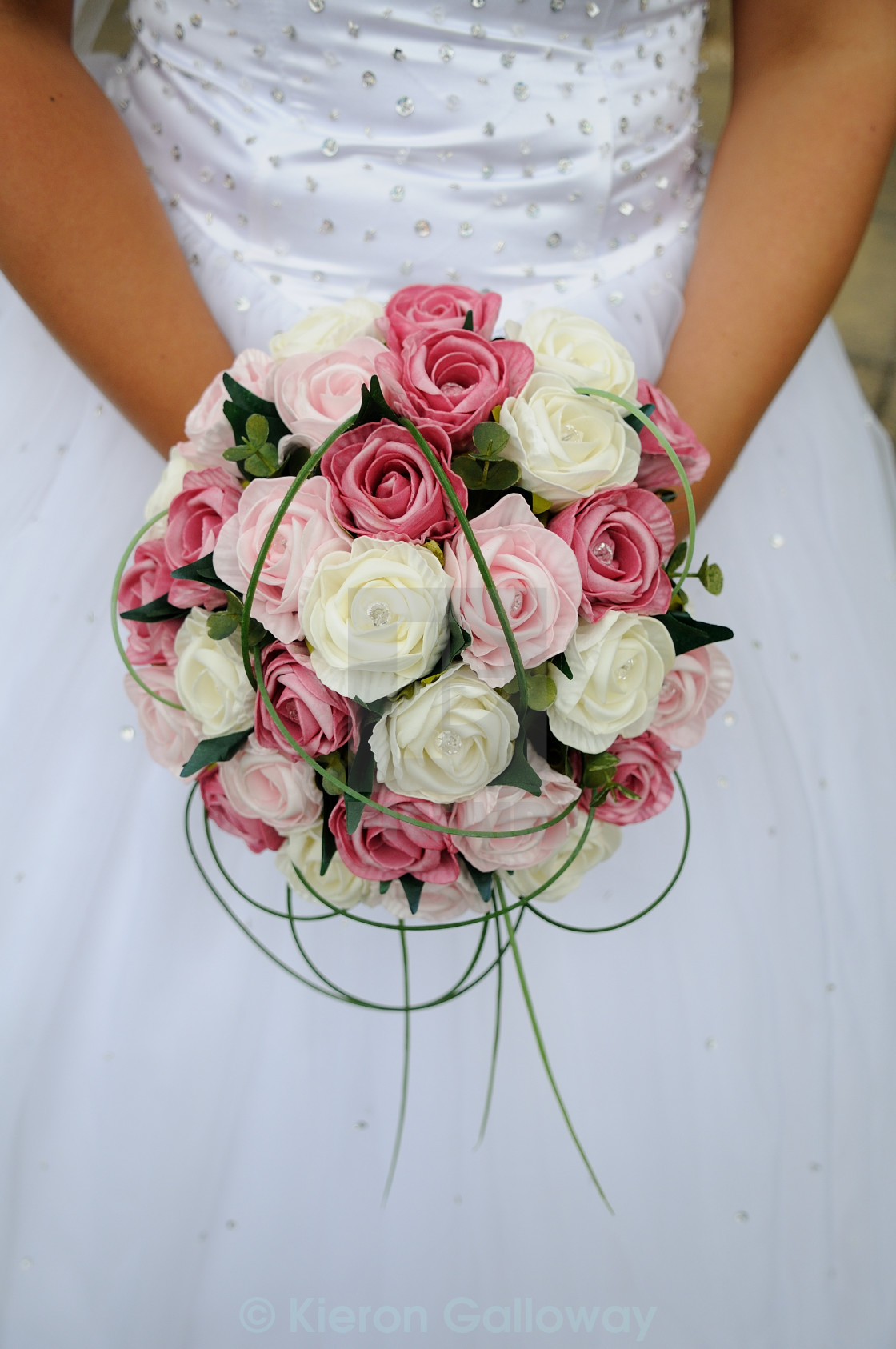 """""""Brides bouquet pink and white"""" stock image"""