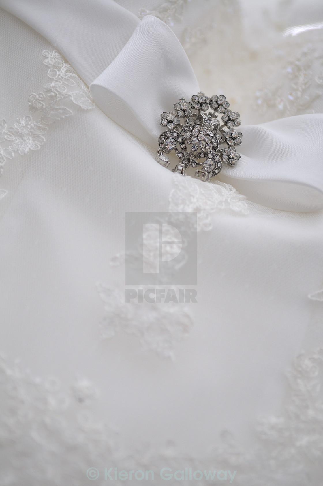 """""""Wedding dress detail"""" stock image"""
