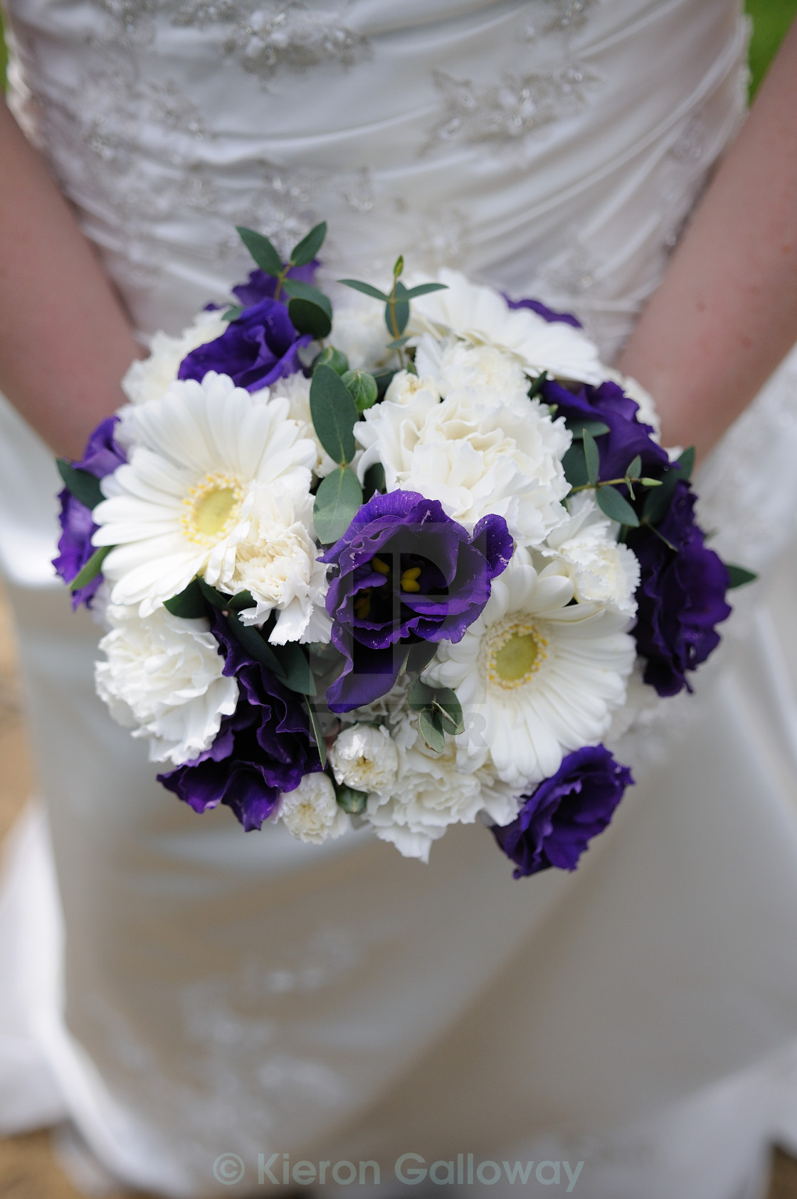 """Brides bouquet purple and white"" stock image"