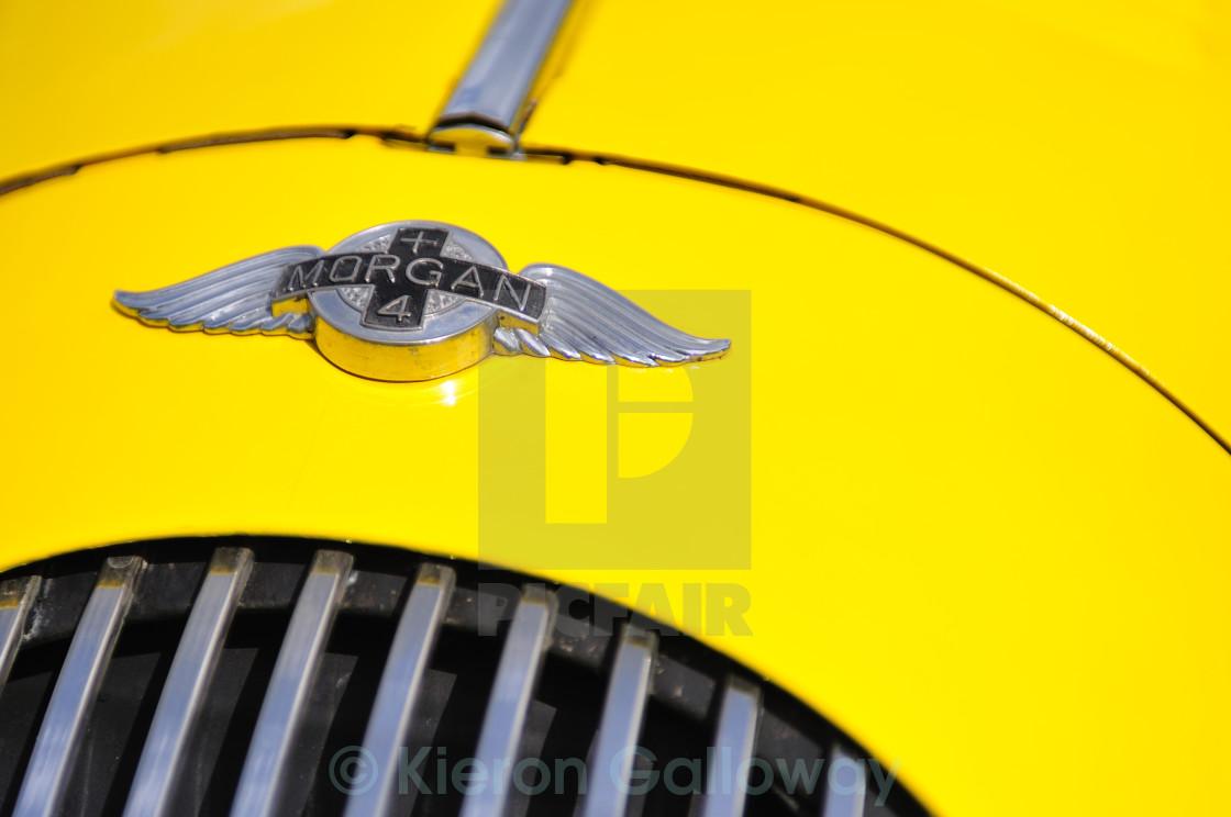 """Morgan Plus4 Yellow"" stock image"