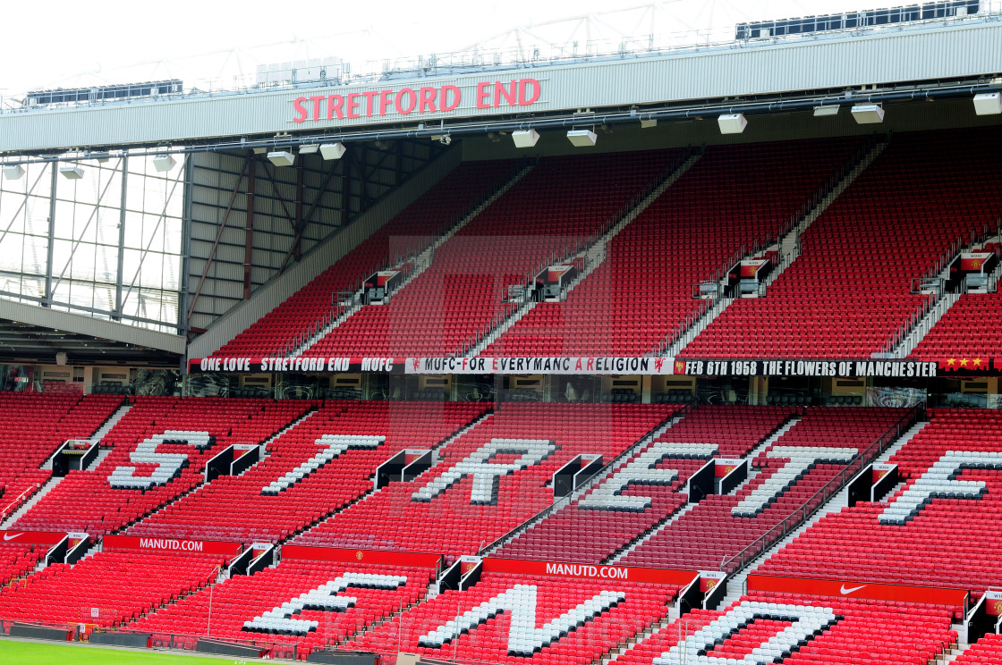 """Old Trafford Stretford End"" stock image"
