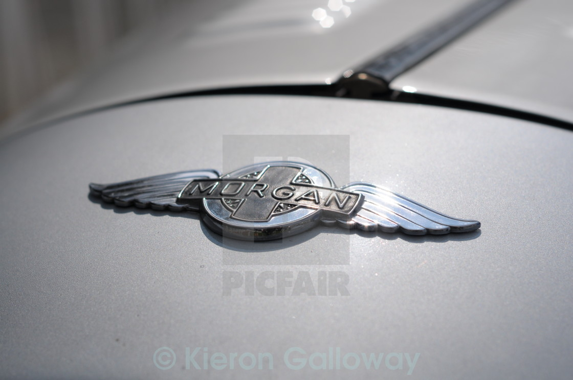 """Morgan car silver"" stock image"