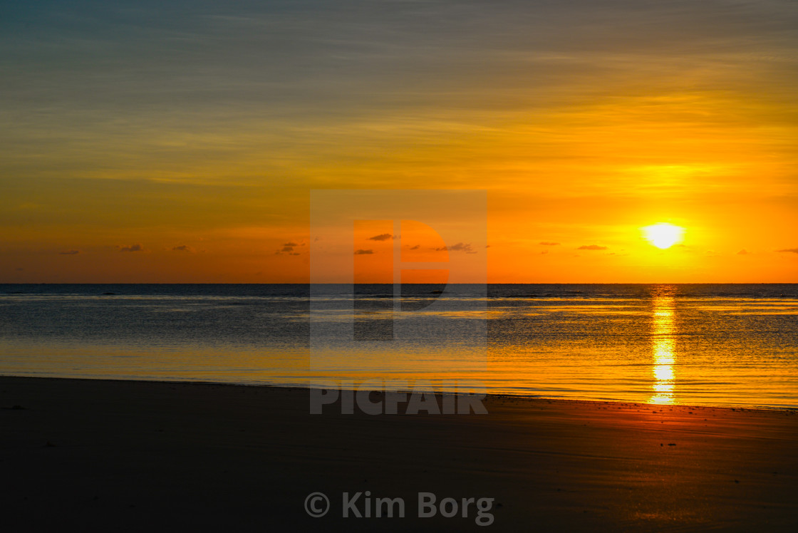 """Cape Tribulation Sunrise"" stock image"