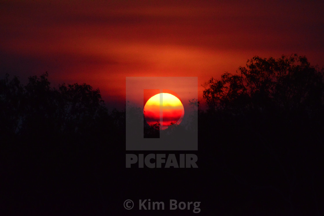 """Fire in the Sky"" stock image"
