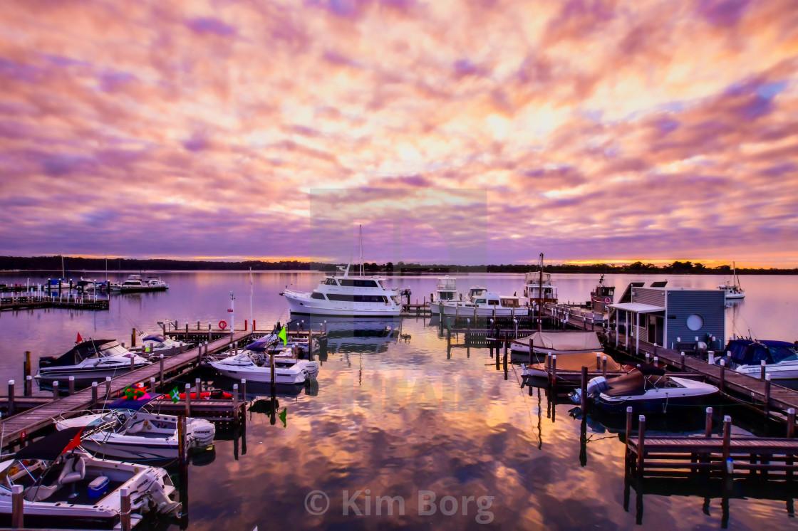 """""""Marina Sunrise"""" stock image"""