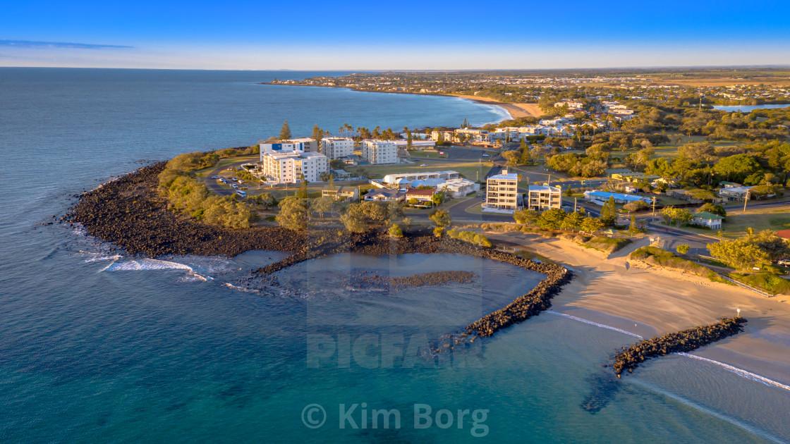 """Bargara Beach Headland"" stock image"