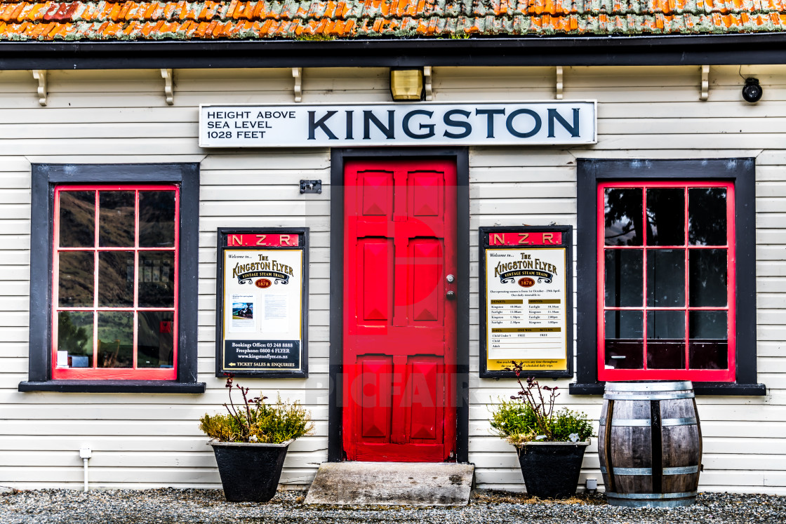 """The Cafe at Kingston"" stock image"