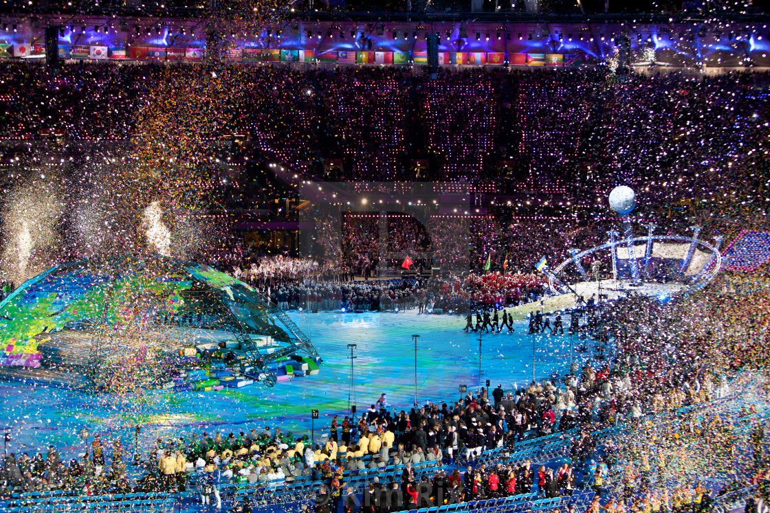 """""""Opening Night Celebrations London 2012 Paralympic Games"""" stock image"""