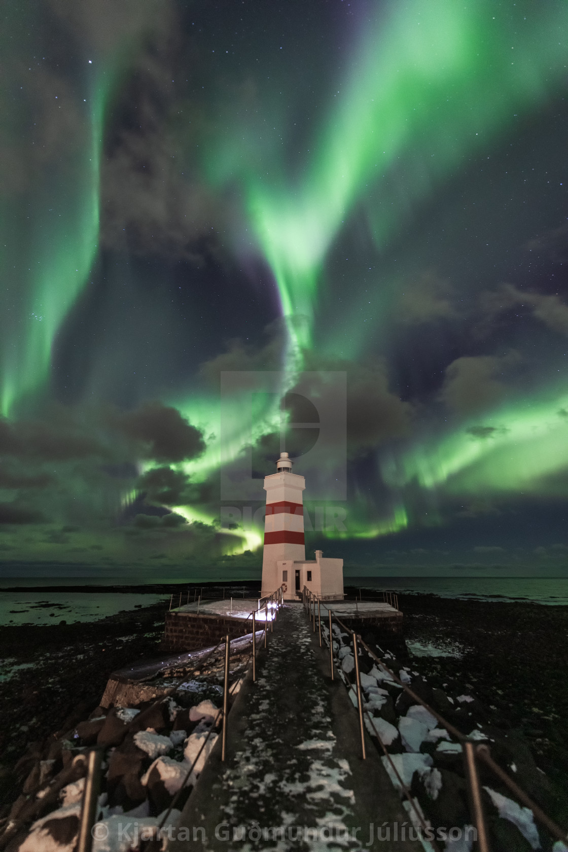 """Old Garðskagi lighthouse"" stock image"