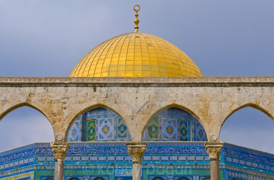 """Dome of the rock"" stock image"