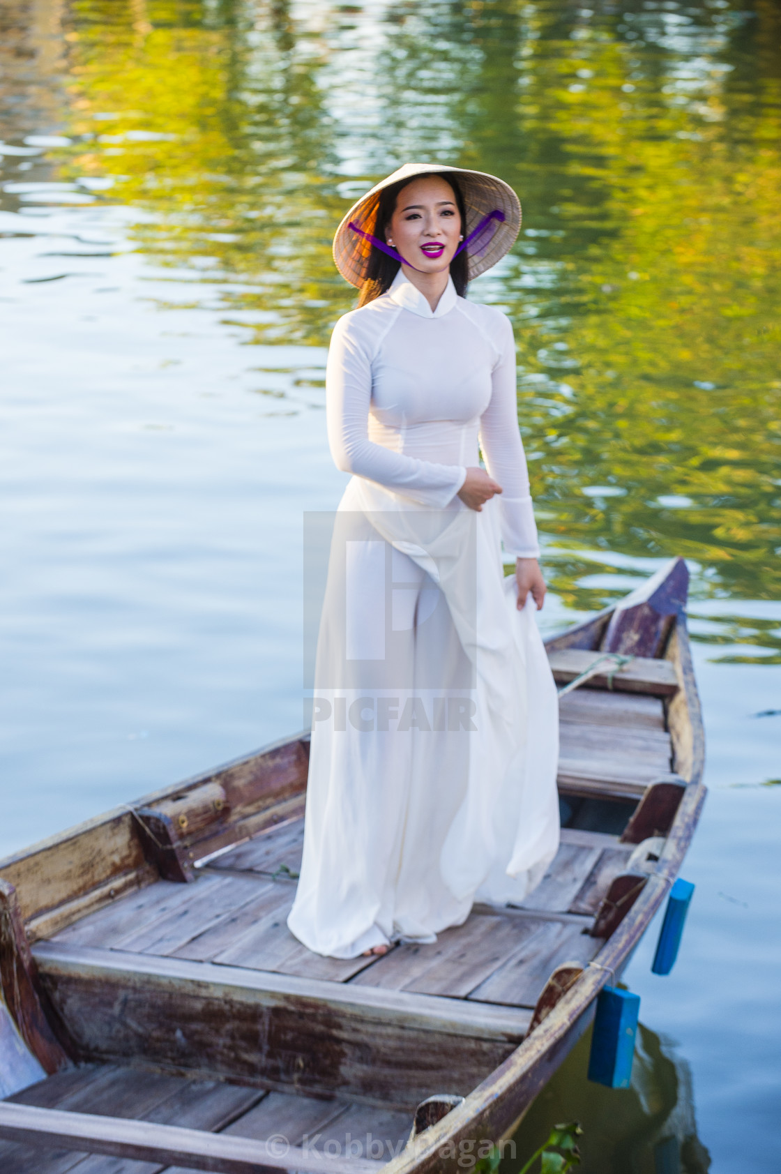 """Vietnamese woman with Ao Dai dress"" stock image"