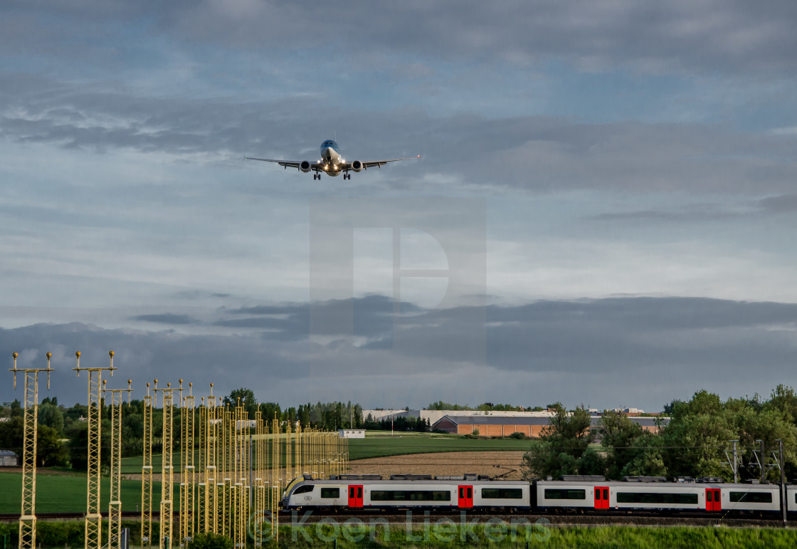 """Train or Plane?"" stock image"