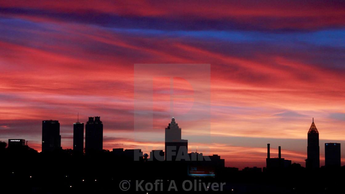 """Atlanta Georgia Skyline"" stock image"