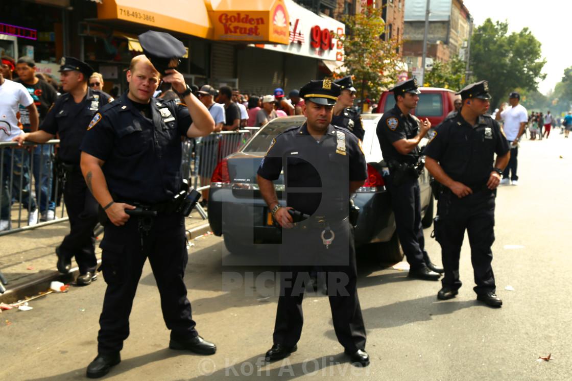 """New York City Policemen"" stock image"