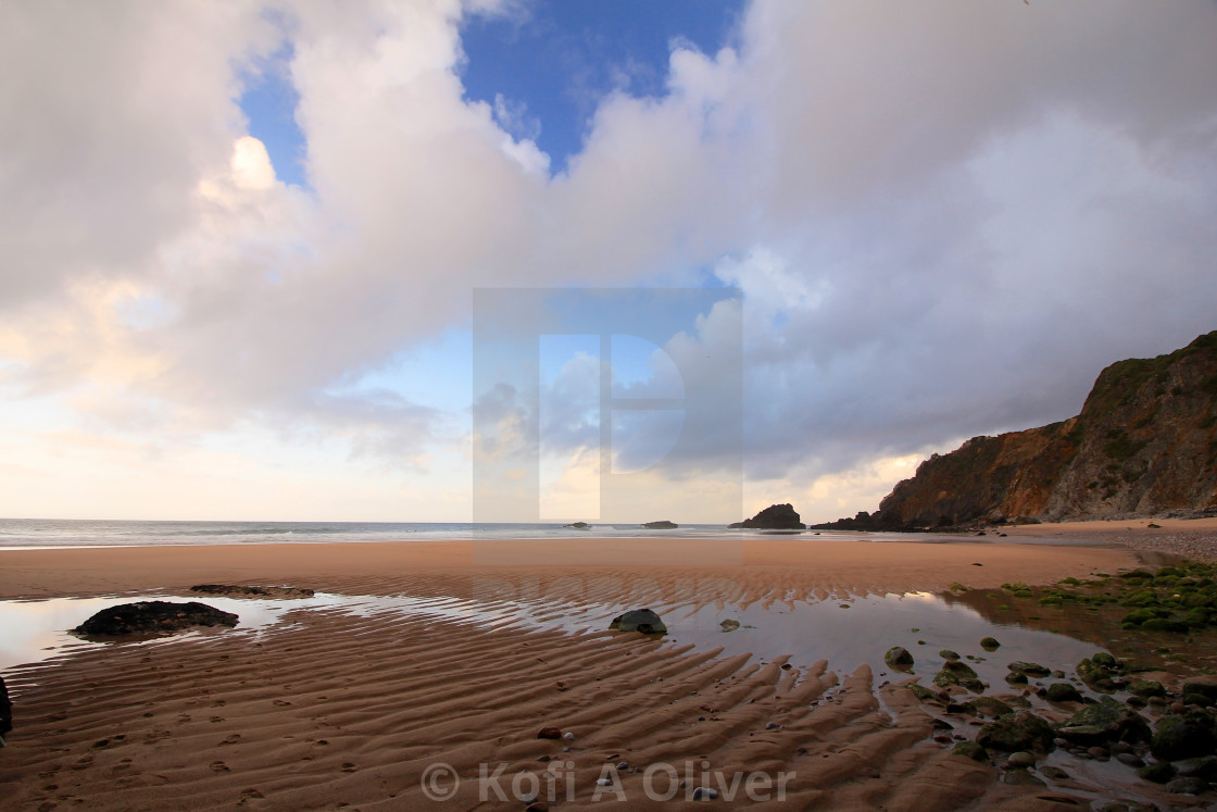 """""""Sintra Beach at Low Tide"""" stock image"""