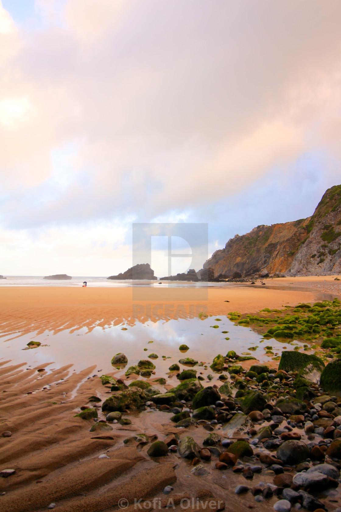 """""""Portuguese Beach"""" stock image"""