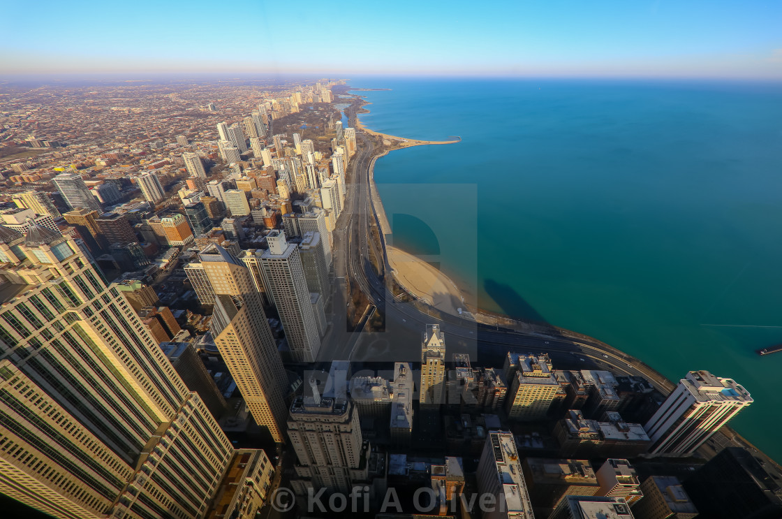 """""""Northern View of Chicago's Skyline"""" stock image"""