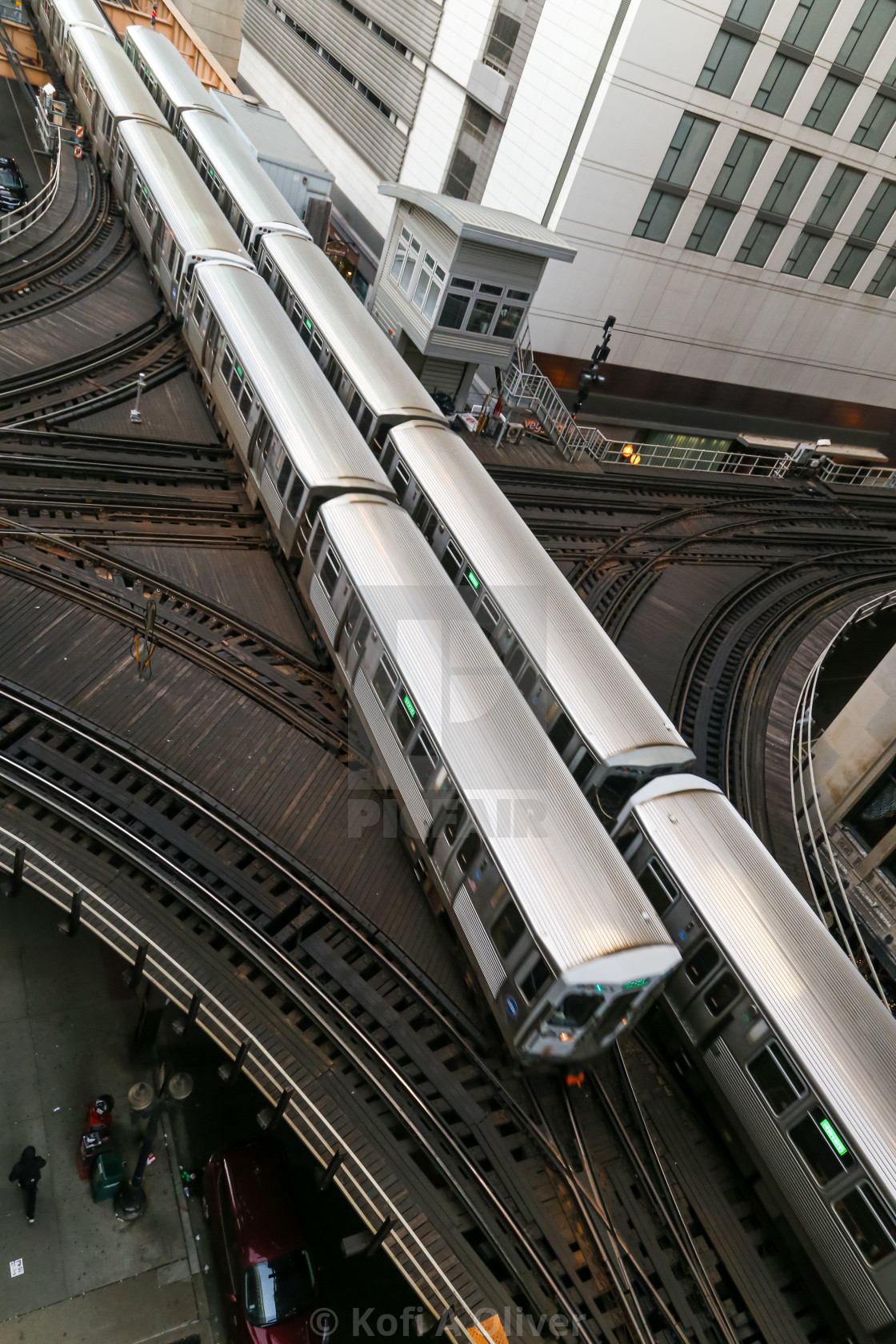 """""""Two Trains Running"""" stock image"""