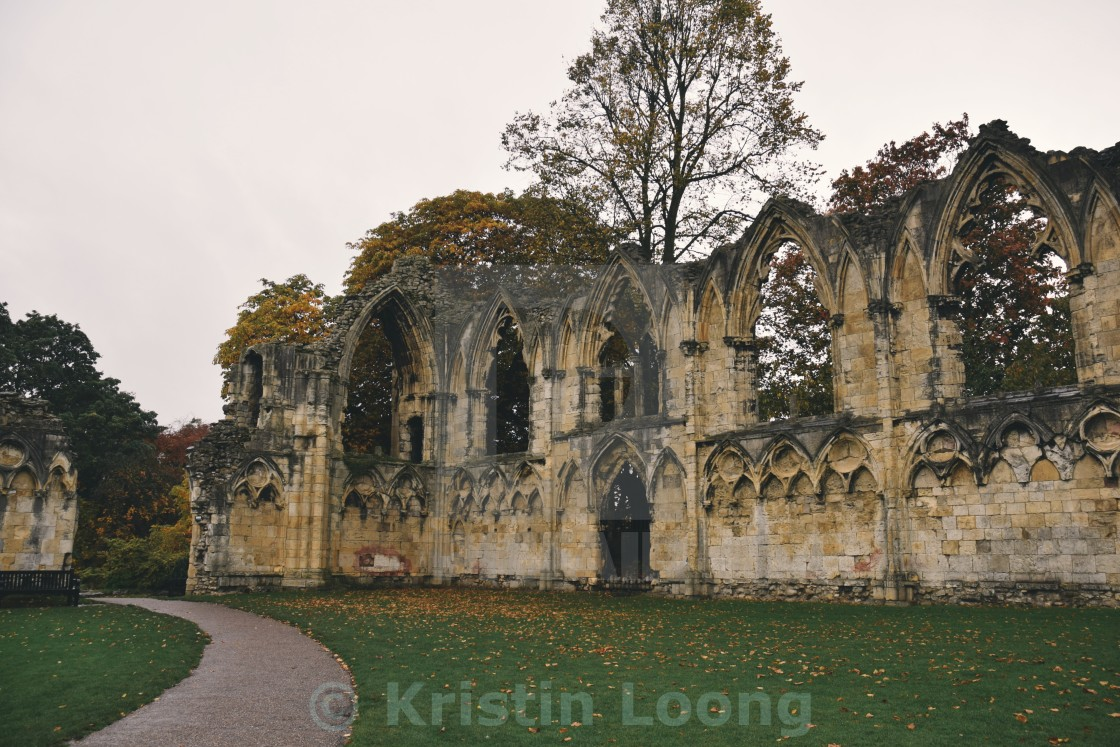 """St Mary's Abbey pt 1"" stock image"
