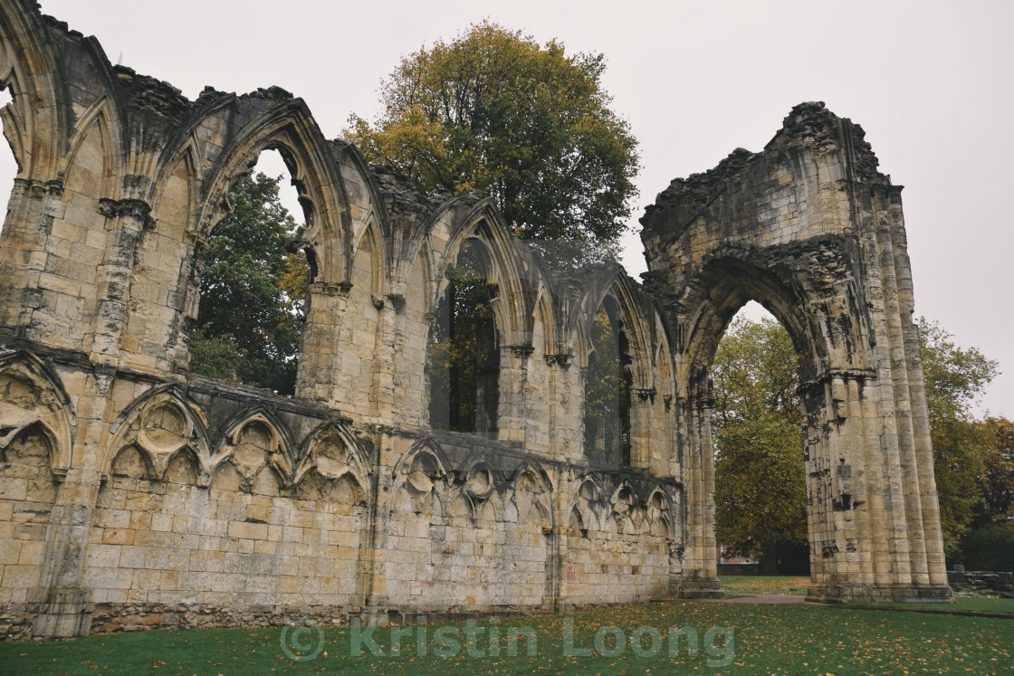 """St Mary's Abbey pt 2"" stock image"