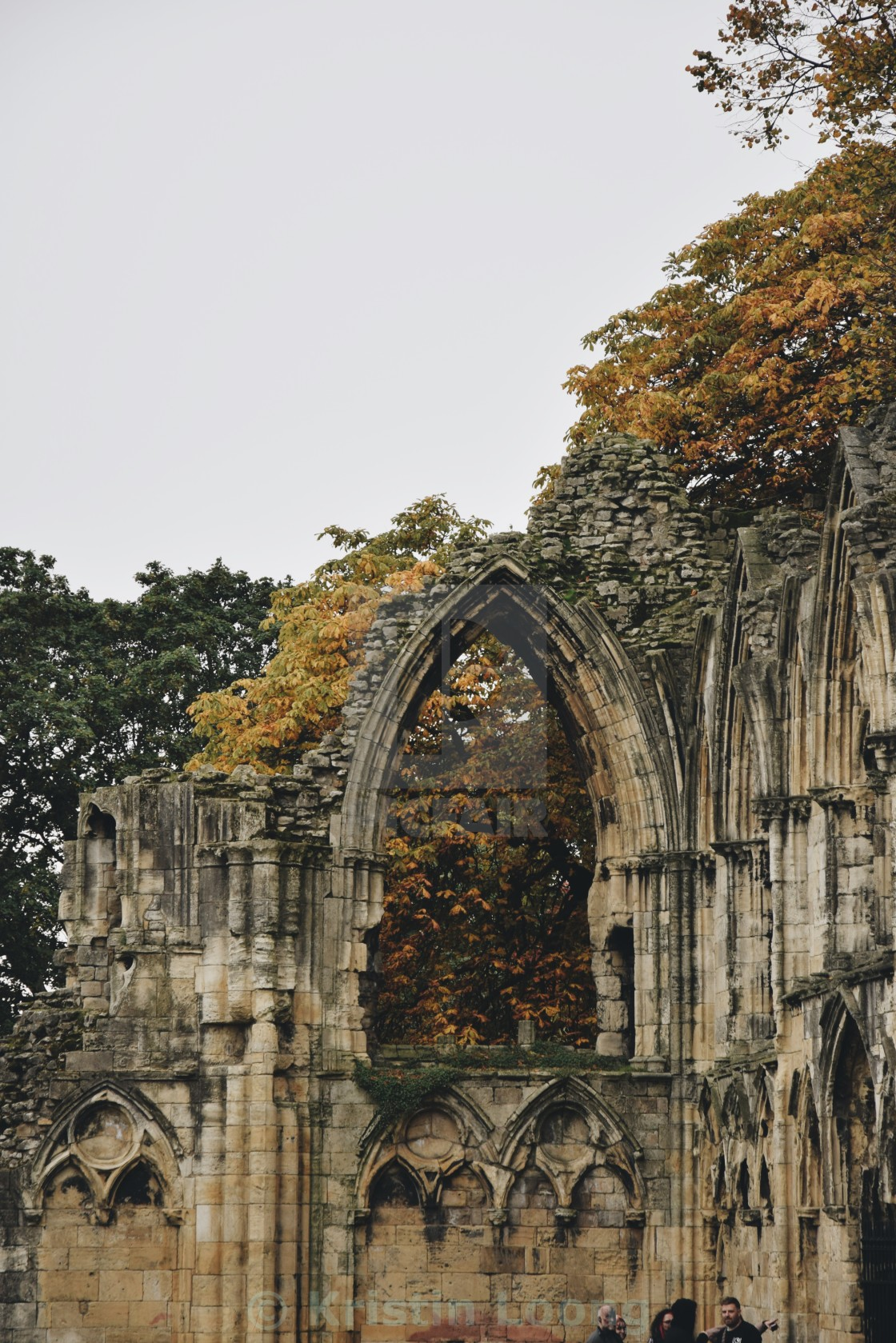 """St Mary's Abbey pt 5"" stock image"