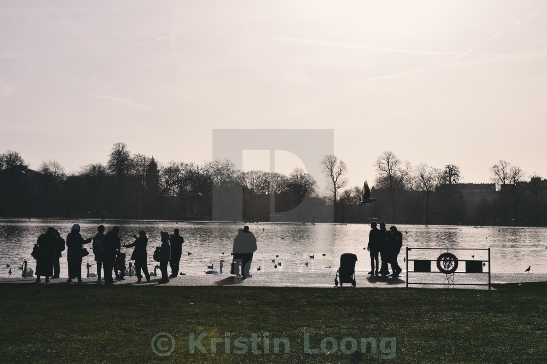 """Around the Round Pond"" stock image"