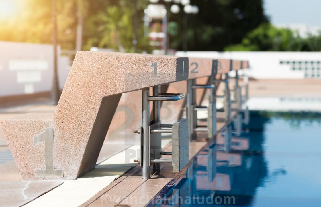 Swimming pool starting block - License, download or print ...