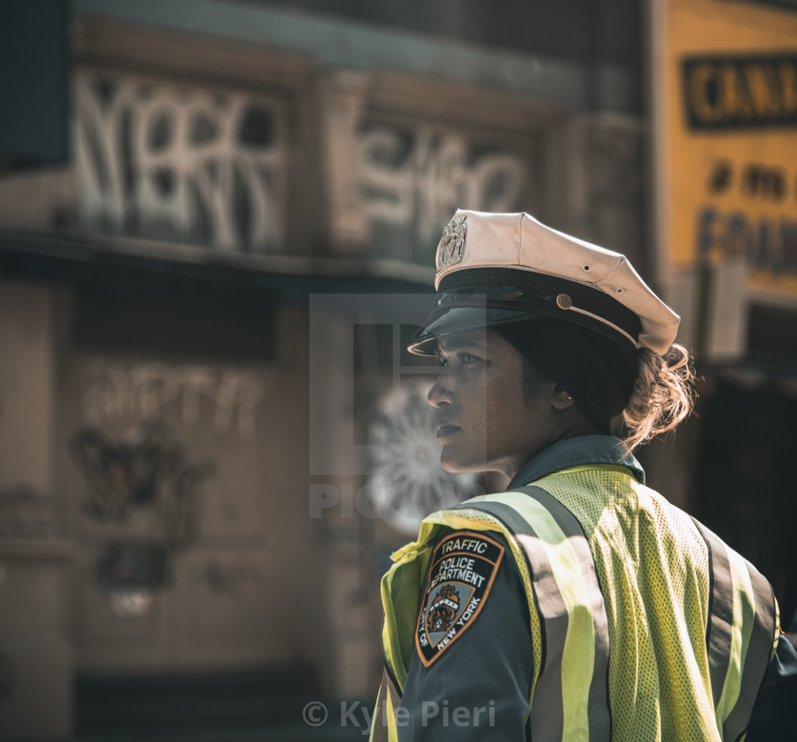 """NYPD in New York"" stock image"