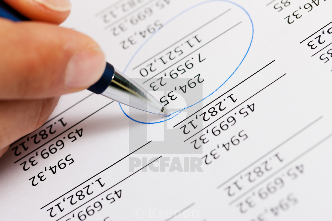 """""""Accountant working on numbers"""" stock image"""