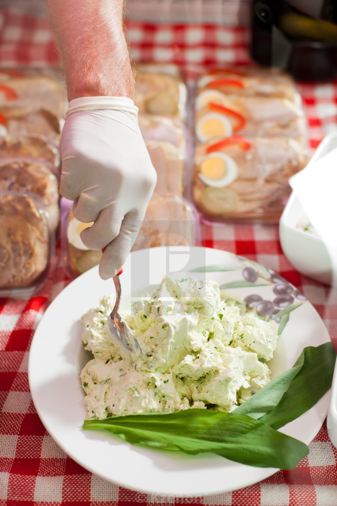 """""""Fresh Delicious Food on Sale"""" stock image"""