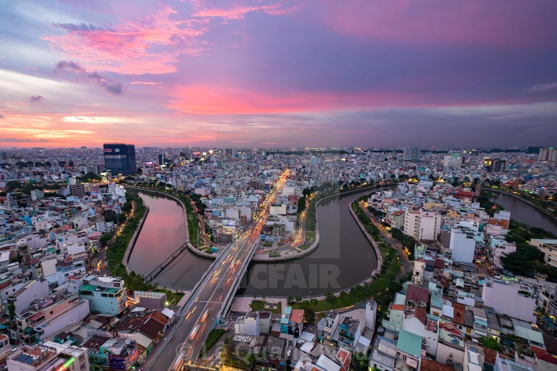 """Ho Chi Minh city (Sai Gon), Vietnam"" stock image"