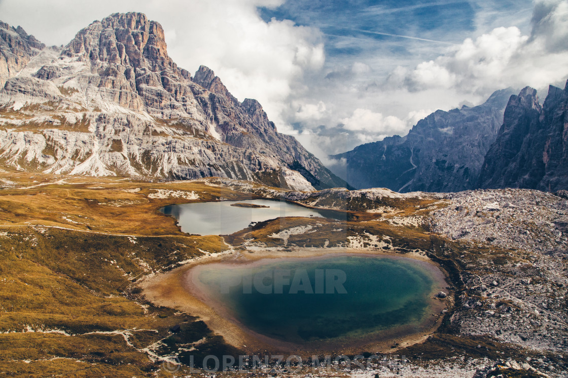 """Wanderlust Mountain Panorama"" stock image"