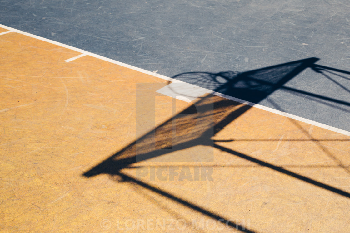"""Basketball court"" stock image"